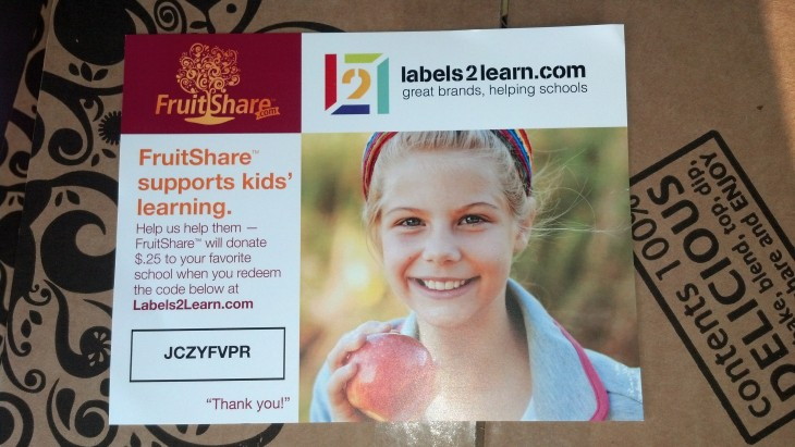 Labels2Learn | FruitShare.com