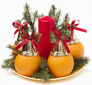 Christmas gift ideas for the office - Christmas decoration with oranges